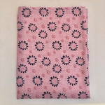 Light weight summer blanket - Sunflower Pink /navy