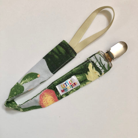 Cactus print , Silver metal clip- Dummy Clip (String) -