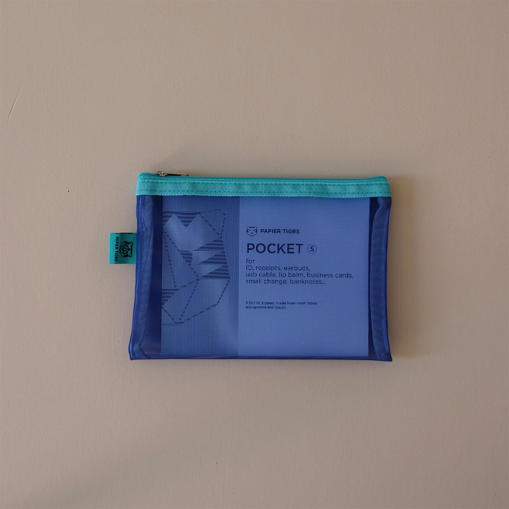 Mesh Pouch Small Blue