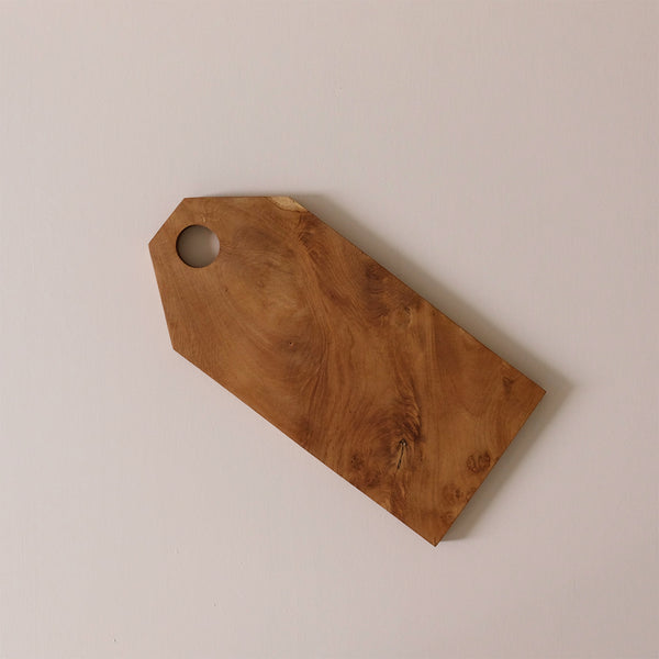 Teak Root Bevel Edge Cutting Board