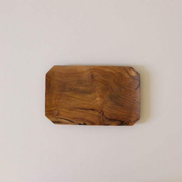 Teak Root Bevelled Tray Medium