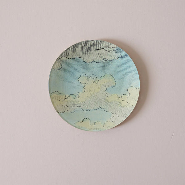 "7"" Round Dish, Clouds - English Horse"