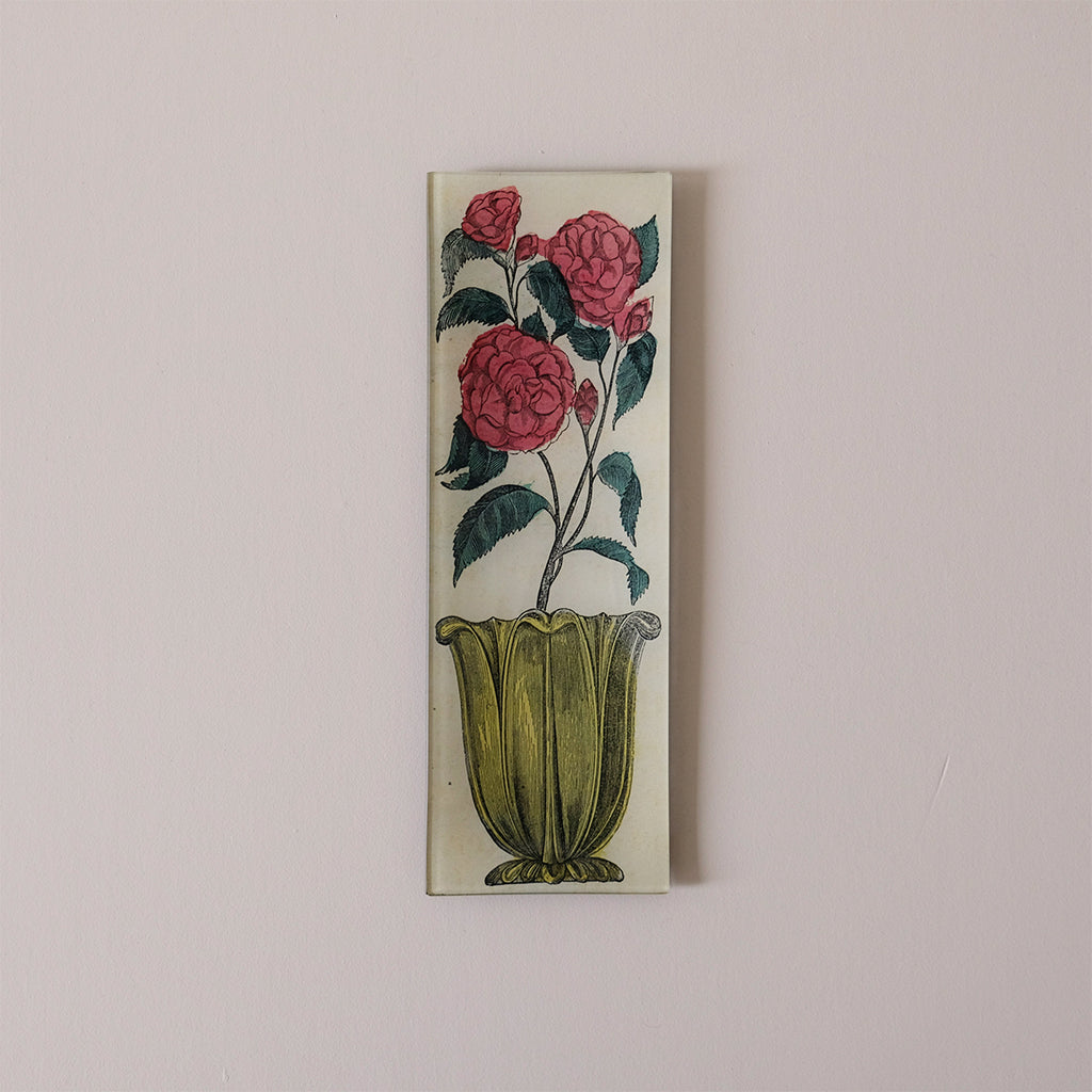 "4.5""x12"" Rectangle Dish, Flower in Vase"