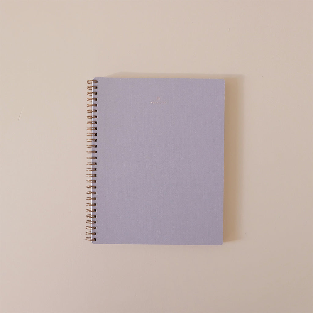 Lavender Gray Notebook Lined