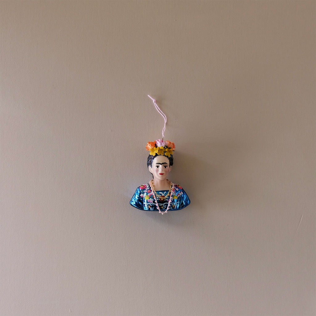 Blue Frida Kahlo Ornament