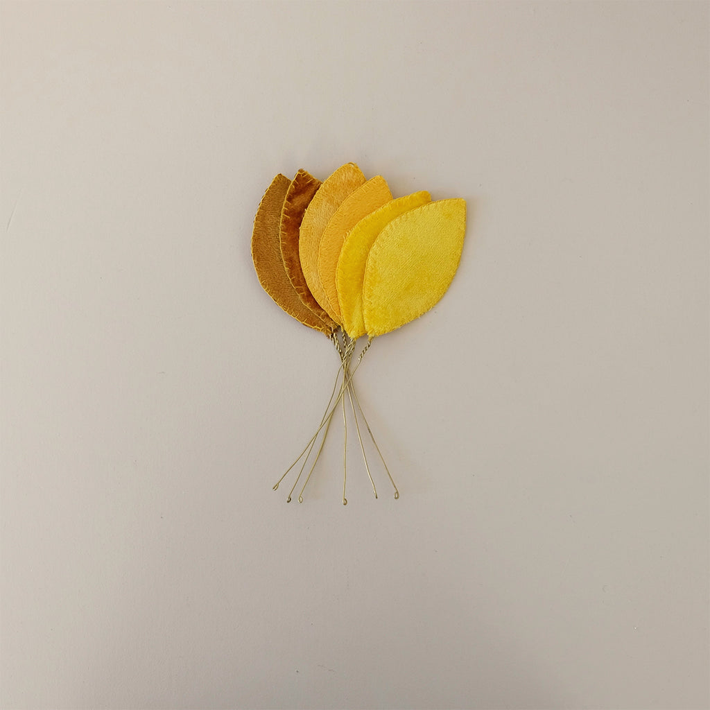 Velvet Leaf Pick Small Yellow