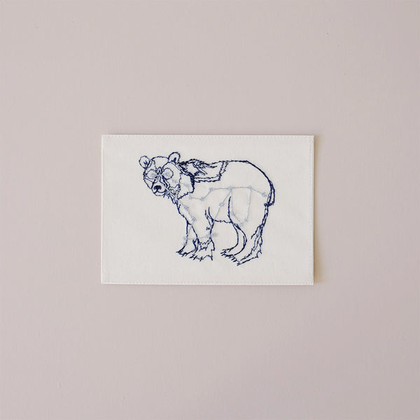 Big Bear Constellation Embroidered Note Card