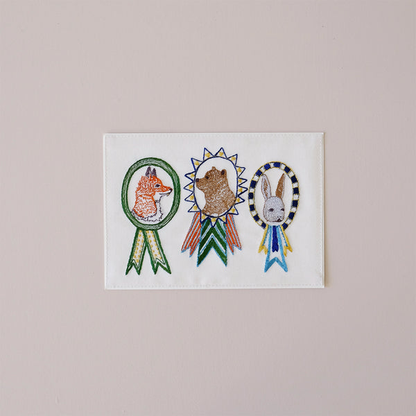 Champs Embroidered Note Card