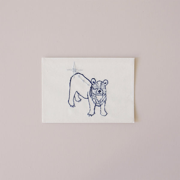 Little Bear Constellation Embroidered Note Card