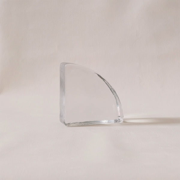 Glass Bookend Clear