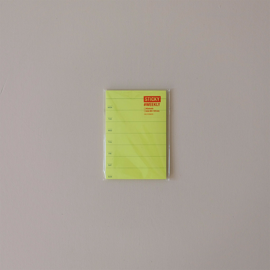 Sticky Schedule Weekly Neon Yellow