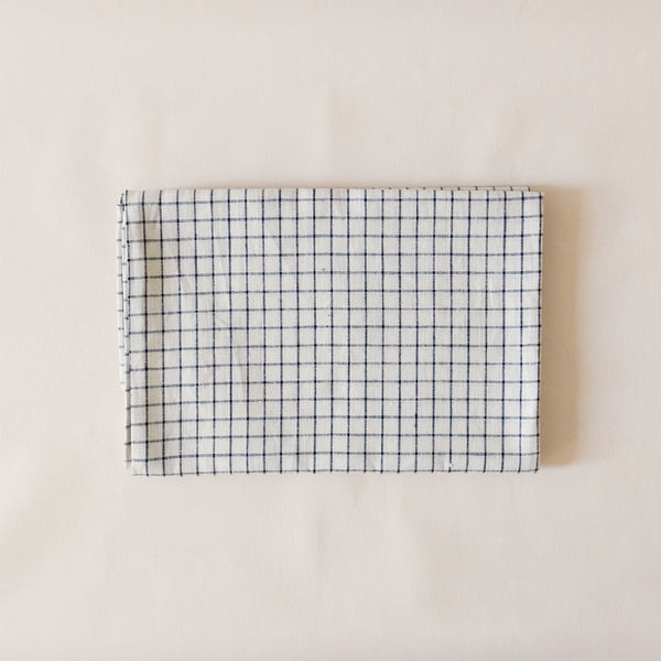 Linen Tablecloth Navy & White Check