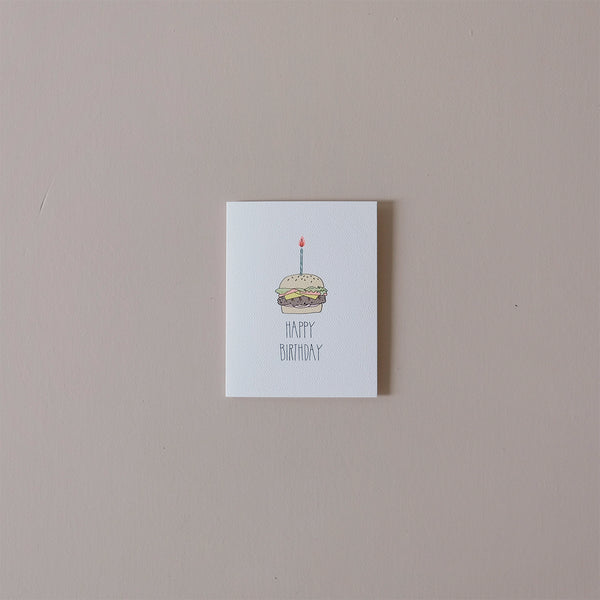 Birthday Burger Note Card