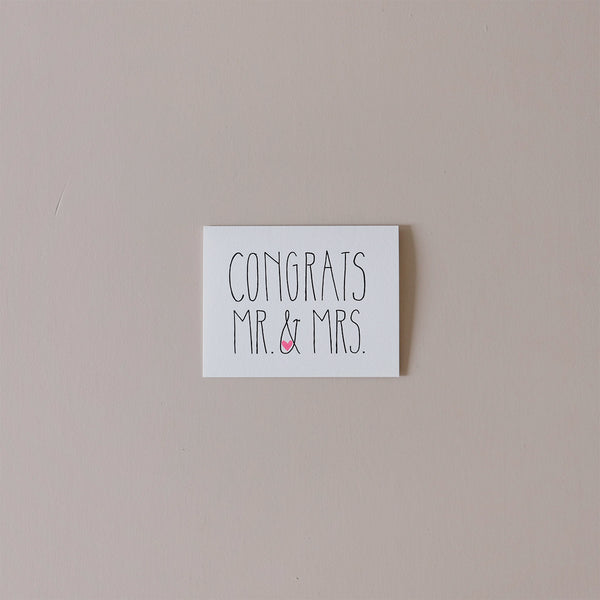 Congrats Mr & Mrs Note Card
