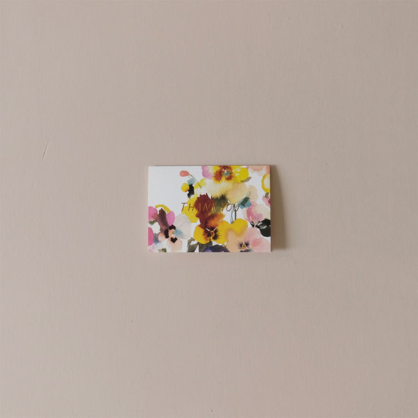 Dealtry Pansy Thank You Note Card