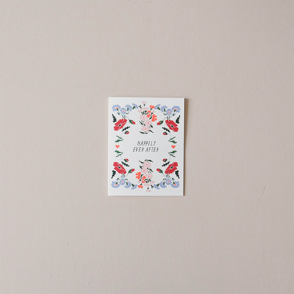 Happily Ever After Poppy Note Card