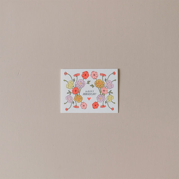 Happy Anniversary Poppies Note Card