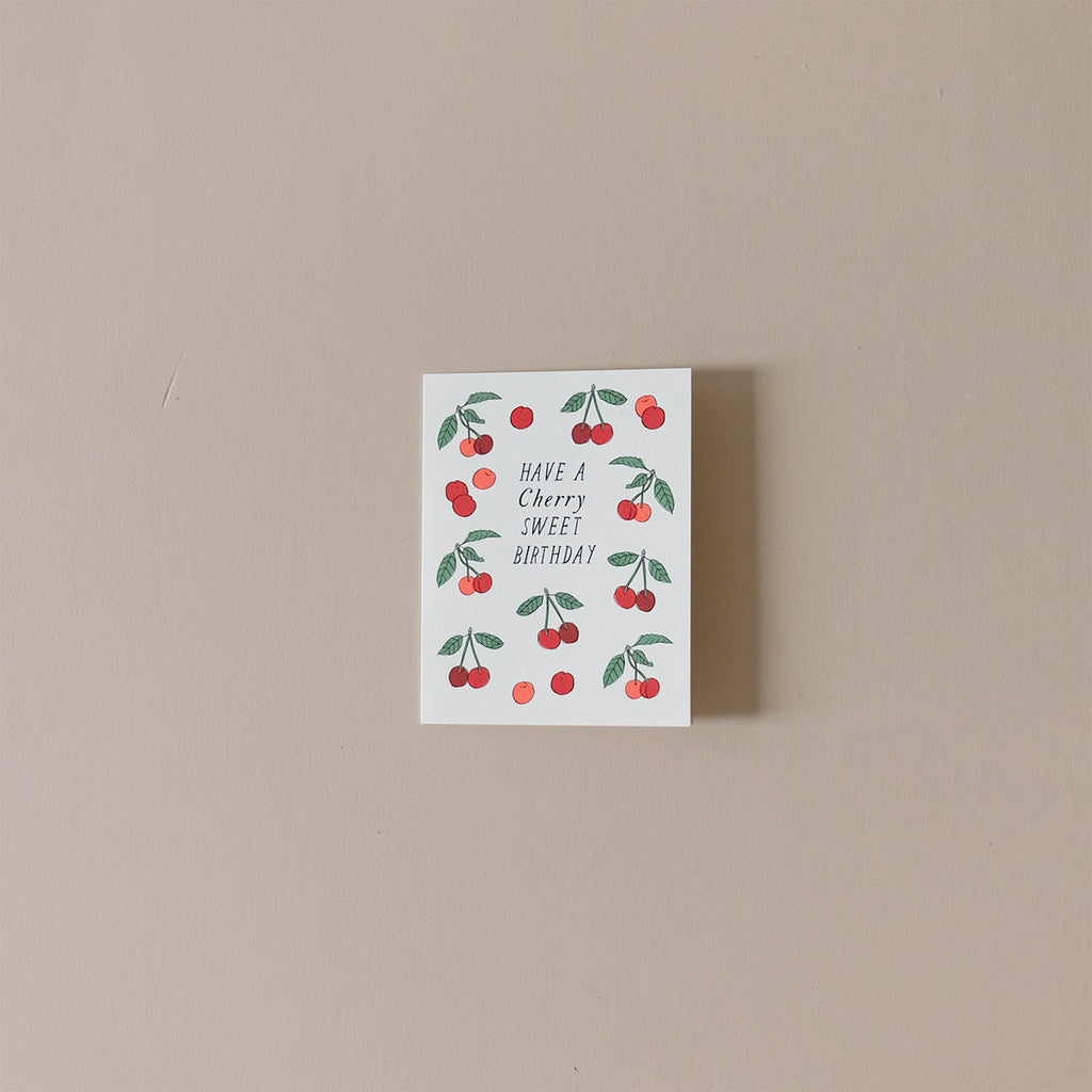 Have a Cherry Sweet Birthday Note Card