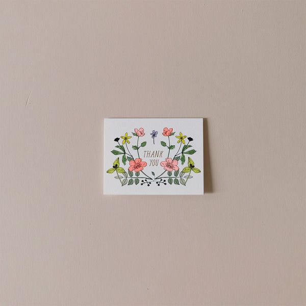Thank You Wildflowers Note Card