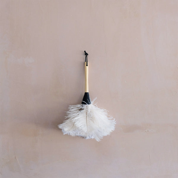 Cream Feather Duster Small
