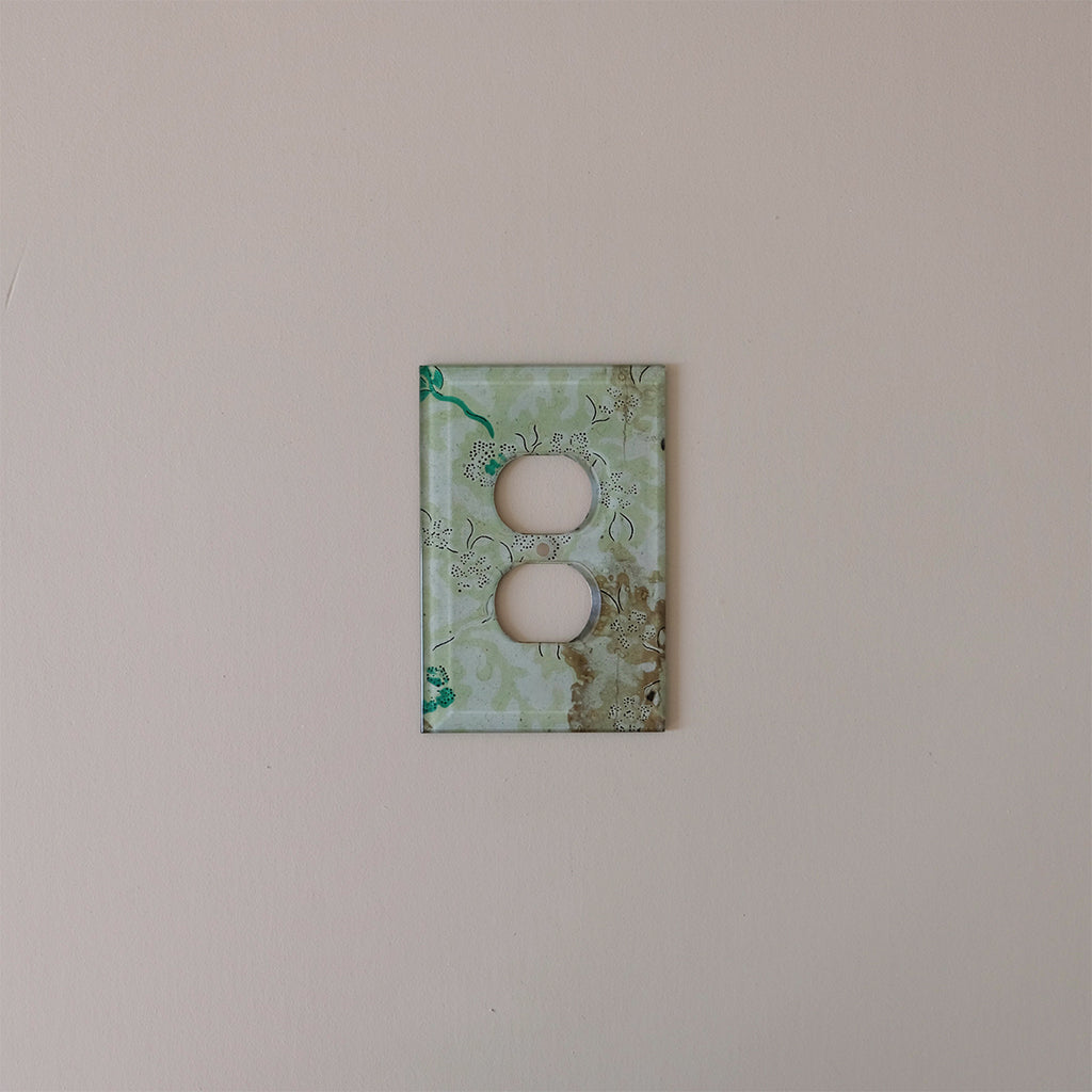 Outlet Plate Cover, Light Emerald