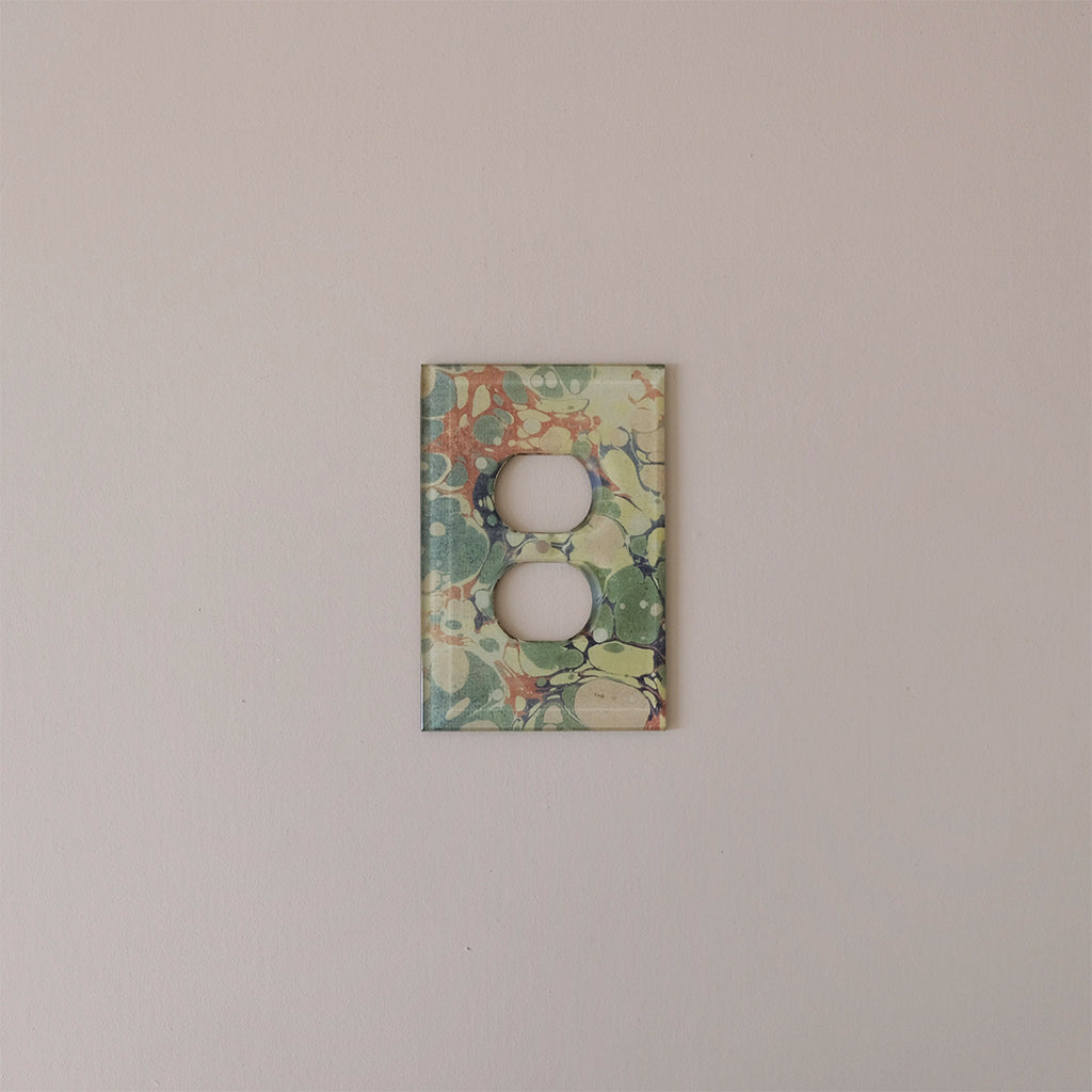 Outlet Plate Cover, Marble