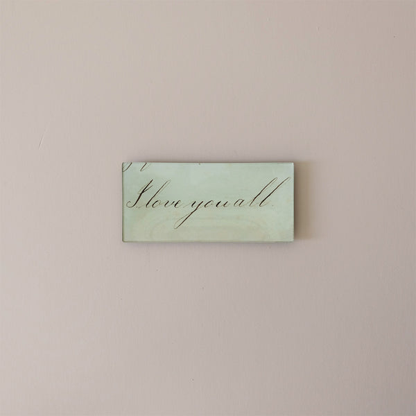 "3.5""x7"" Rectangle Dish, I Love You All"