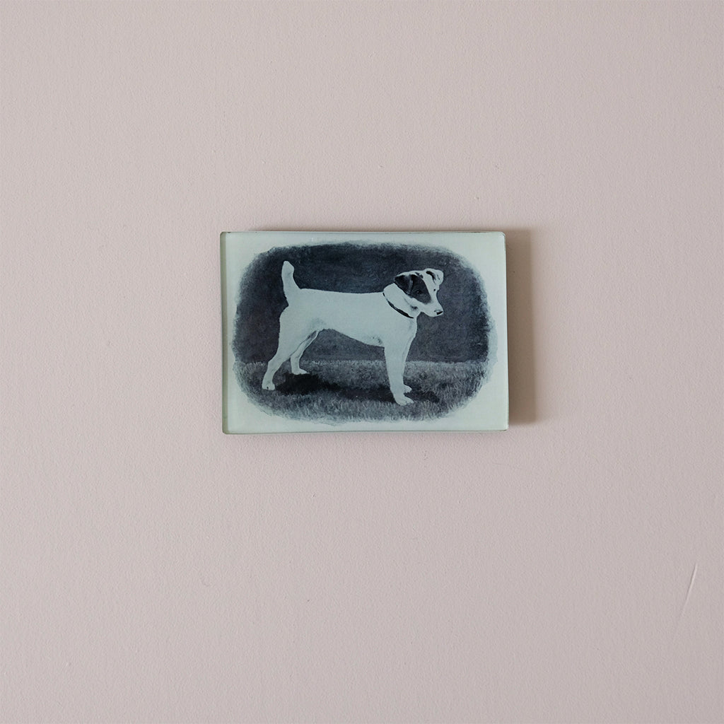 "3.5""x5"" Rectangle Dish, Smooth Hair Fox Terrier"