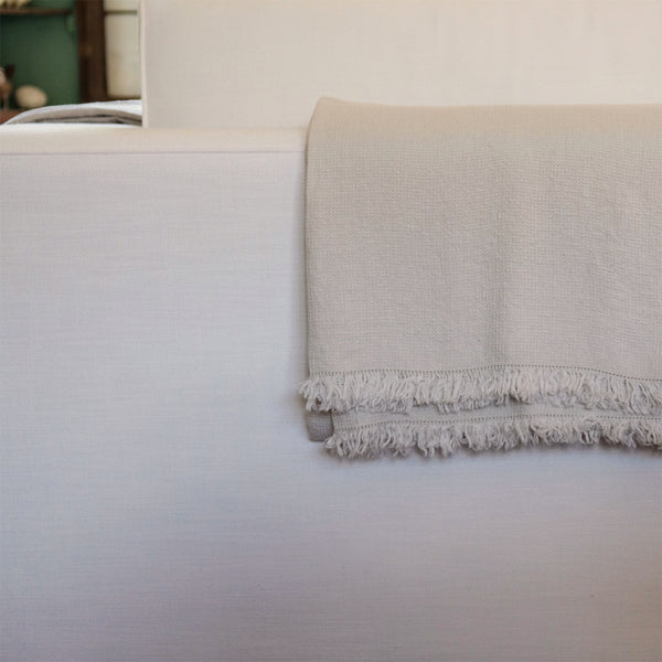 Washed Waffle Throw Silver