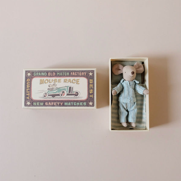 Big Brother Mouse in Pajamas in Matchbox