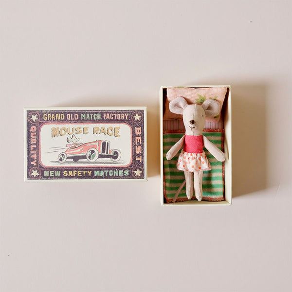 Little Sister Mouse in Bright Pink in Matchbox