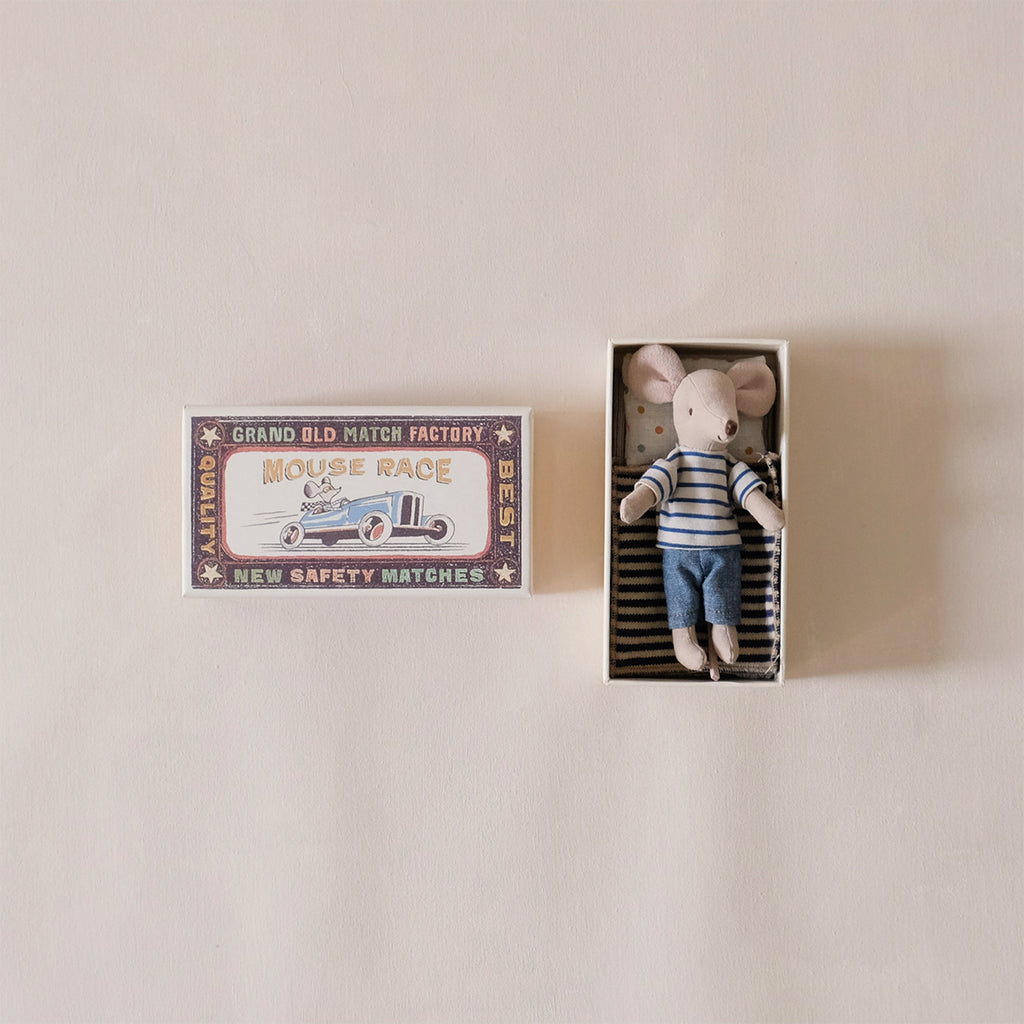 Big Brother Mouse in Striped Shirt in Matchbox