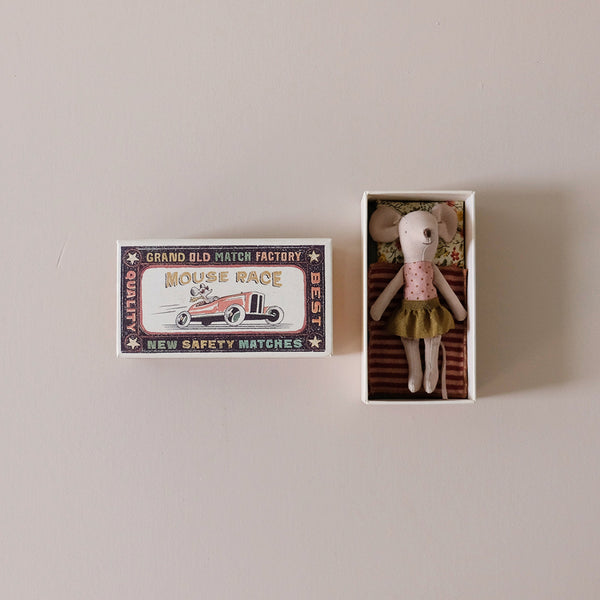 Big Sister Mouse in Yellow Skirt in Matchbox