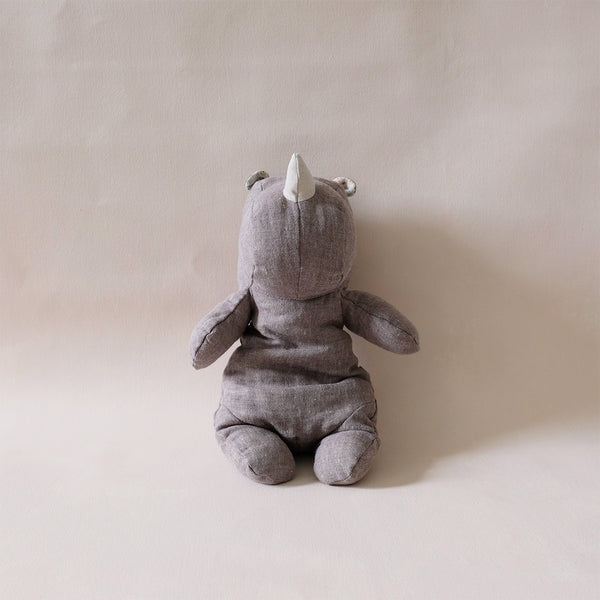 Rhino Stuffed Animal Grey Medium