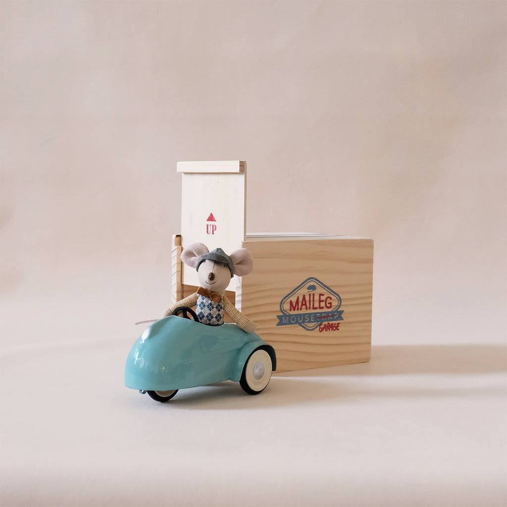 Little Brother Mouse Garage Blue