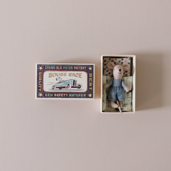 Little Brother Mouse in Blue Pants in Matchbox