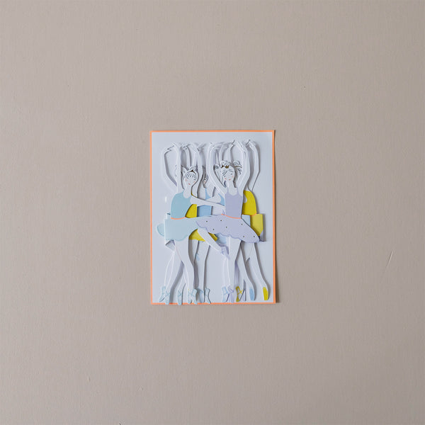 Ballet Dancers Note Card