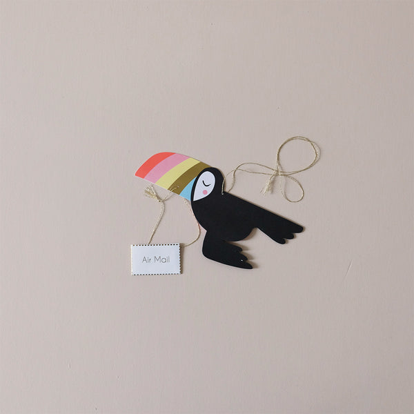 Flying Toucan Note Card