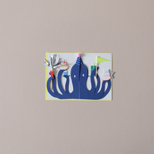 Party Octopus Note Card