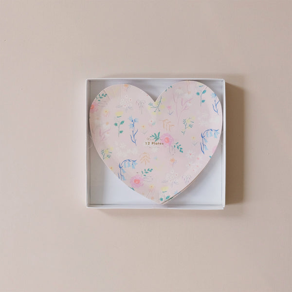 Wildflower Heart Plates Large