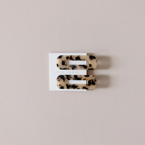 Ivory Tortoise Duo Hair Clip