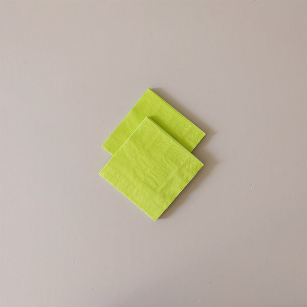 Cocktail Napkins Chartreuse