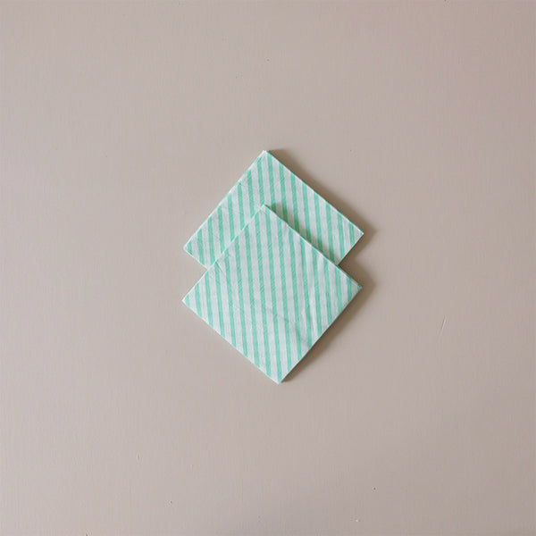 Cocktail Napkins Mint Stripe
