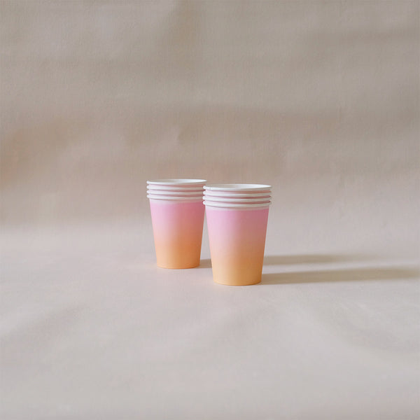 Paper Cups Sunset Ombre