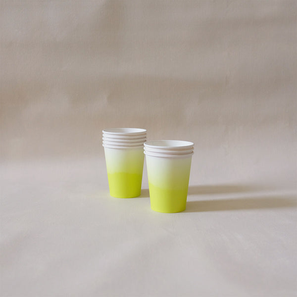 Paper Cups Chartreuse Ombre