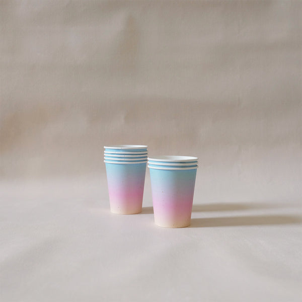 Paper Cups Rainbow Ombre