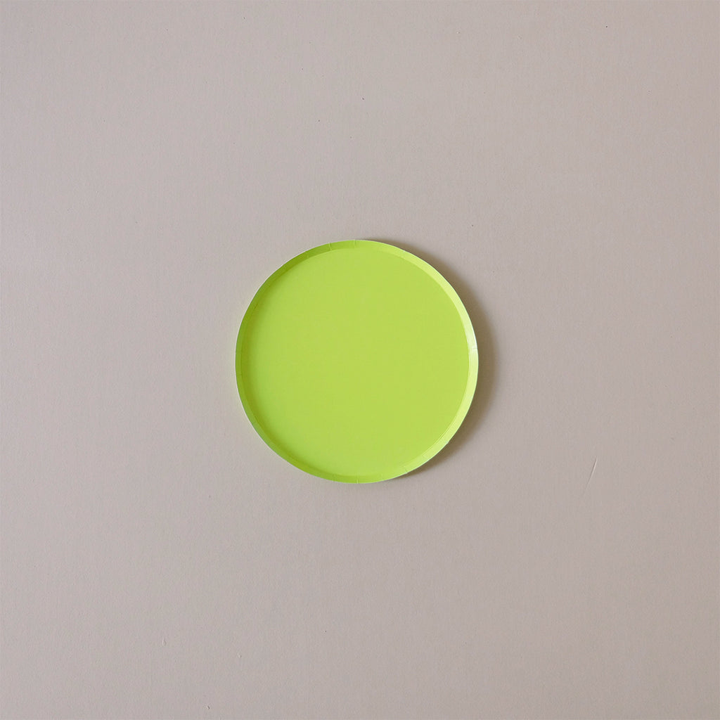 Paper Plates Chartreuse