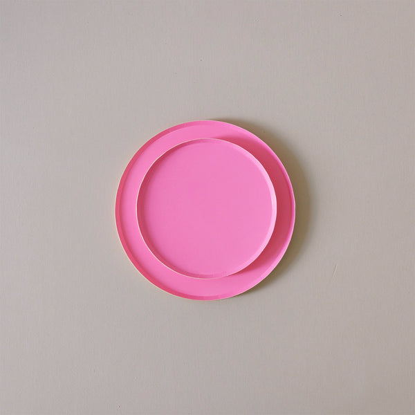Paper Plates Neon Rose