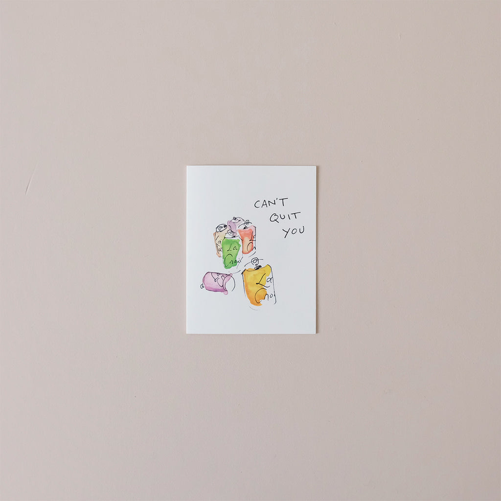 Can't Quit You Note Card
