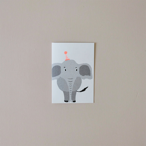 Elephant Balloon Note Card
